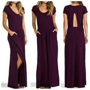 Audrina Free People Purple long dress size small